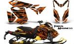 Skidoo RevXS CreatorX Graphics Kit Tribal Madness Orange YB 150x90 - Ski-Doo Rev XS MXZ Renegade 2013-2016 Graphics