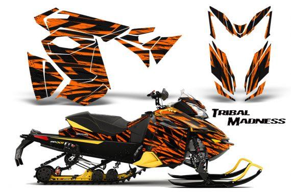 Skidoo RevXS CreatorX Graphics Kit Tribal Madness Orange YB 570x376 - Ski-Doo Rev XS MXZ Renegade 2013-2016 Graphics