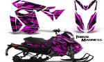 Skidoo RevXS CreatorX Graphics Kit Tribal Madness Pink 150x90 - Ski-Doo Rev XS MXZ Renegade 2013-2018 Graphics