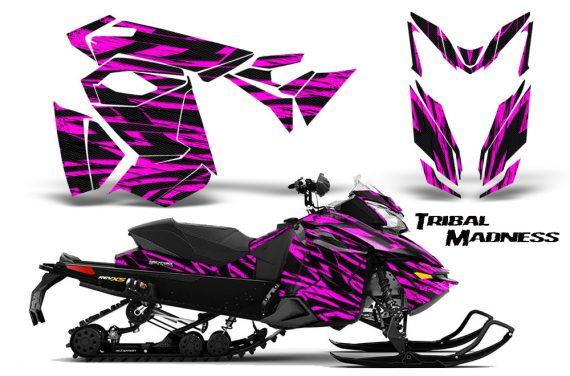 Skidoo RevXS CreatorX Graphics Kit Tribal Madness Pink 570x376 - Ski-Doo Rev XS MXZ Renegade 2013-2018 Graphics