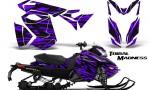 Skidoo RevXS CreatorX Graphics Kit Tribal Madness Purple 150x90 - Ski-Doo Rev XS MXZ Renegade 2013-2016 Graphics