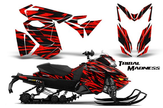 Skidoo RevXS CreatorX Graphics Kit Tribal Madness Red 570x376 - Ski-Doo Rev XS MXZ Renegade 2013-2016 Graphics