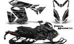 Skidoo RevXS CreatorX Graphics Kit Tribal Madness Silver 150x90 - Ski-Doo Rev XS MXZ Renegade 2013-2018 Graphics