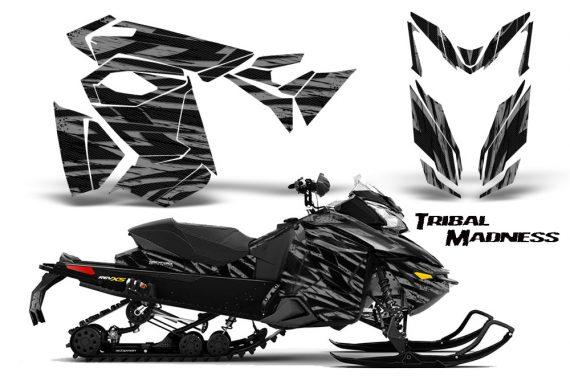 Skidoo RevXS CreatorX Graphics Kit Tribal Madness Silver 570x376 - Ski-Doo Rev XS MXZ Renegade 2013-2018 Graphics