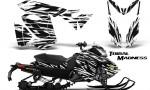 Skidoo RevXS CreatorX Graphics Kit Tribal Madness White 150x90 - Ski-Doo Rev XS MXZ Renegade 2013-2018 Graphics