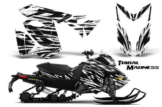 Skidoo RevXS CreatorX Graphics Kit Tribal Madness White 570x376 - Ski-Doo Rev XS MXZ Renegade 2013-2018 Graphics