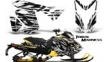 Skidoo RevXS CreatorX Graphics Kit Tribal Madness White YB 150x90 - Ski-Doo Rev XS MXZ Renegade 2013-2018 Graphics