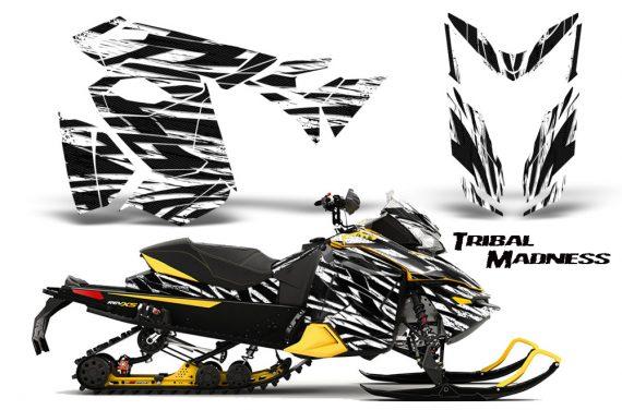 Skidoo RevXS CreatorX Graphics Kit Tribal Madness White YB 570x376 - Ski-Doo Rev XS MXZ Renegade 2013-2018 Graphics