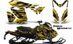 Skidoo RevXS CreatorX Graphics Kit Tribal Madness Yellow BB 150x90 - Ski-Doo Rev XS MXZ Renegade 2013-2018 Graphics