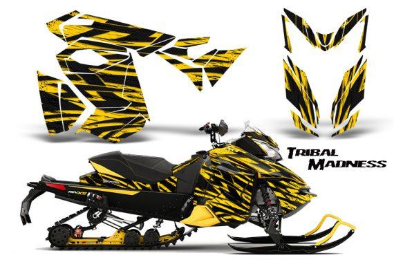 Skidoo RevXS CreatorX Graphics Kit Tribal Madness Yellow YB 570x376 - Ski-Doo Rev XS MXZ Renegade 2013-2018 Graphics