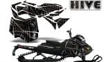 Skidoo RevXM CreatorX Graphics Kit Hive Black 150x90 - Ski-Doo Can-Am Rev XM 2013-2017 Graphics