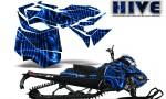 Skidoo RevXM CreatorX Graphics Kit Hive Blue 150x90 - Ski-Doo Can-Am Rev XM 2013-2017 Graphics