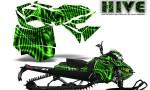 Skidoo RevXM CreatorX Graphics Kit Hive Green 150x90 - Ski-Doo Can-Am Rev XM 2013-2017 Graphics