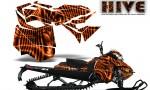 Skidoo RevXM CreatorX Graphics Kit Hive Orange 150x90 - Ski-Doo Can-Am Rev XM 2013-2017 Graphics