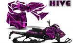 Skidoo RevXM CreatorX Graphics Kit Hive Pink 150x90 - Ski-Doo Can-Am Rev XM 2013-2017 Graphics
