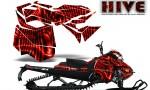 Skidoo RevXM CreatorX Graphics Kit Hive Red 150x90 - Ski-Doo Can-Am Rev XM 2013-2017 Graphics