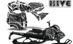 Skidoo RevXM CreatorX Graphics Kit Hive White 150x90 - Ski-Doo Can-Am Rev XM 2013-2017 Graphics