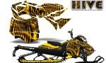 Skidoo RevXM CreatorX Graphics Kit Hive Yellow 150x90 - Ski-Doo Can-Am Rev XM 2013-2017 Graphics