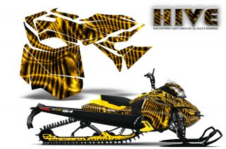 Skidoo RevXM CreatorX Graphics Kit Hive Yellow 320x211 - Ski-Doo Can-Am Rev XM 2013-2017 Graphics