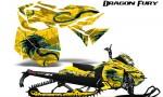 Skidoo RevXM Graphics Kit Dragon Fury BlueIce Yellow 150x90 - Ski-Doo Can-Am Rev XM 2013-2017 Graphics