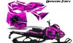 Skidoo RevXM Graphics Kit Dragon Fury Blue Pink 150x90 - Ski-Doo Can-Am Rev XM 2013-2017 Graphics