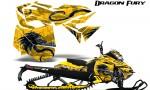 Skidoo RevXM Graphics Kit Dragon Fury Blue Yellow 150x90 - Ski-Doo Can-Am Rev XM 2013-2017 Graphics