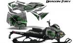 Skidoo RevXM Graphics Kit Dragon Fury Green Silver 150x90 - Ski-Doo Can-Am Rev XM 2013-2017 Graphics