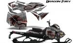 Skidoo RevXM Graphics Kit Dragon Fury Red Silver 150x90 - Ski-Doo Can-Am Rev XM 2013-2017 Graphics