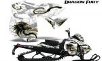 Skidoo RevXM Graphics Kit Dragon Fury Yellow White 150x90 - Ski-Doo Can-Am Rev XM 2013-2017 Graphics