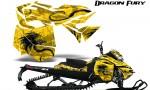 Skidoo RevXM Graphics Kit Dragon Fury Yellow Yellow 150x90 - Ski-Doo Can-Am Rev XM 2013-2017 Graphics