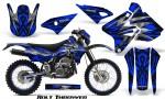Suzuki DRZ400 Enduro CreatorX Graphics Kit Bolt Thrower Blue NP Rims 150x90 - Suzuki Dirt Bike Graphics