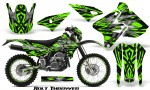 Suzuki DRZ400 Enduro CreatorX Graphics Kit Bolt Thrower Green NP Rims 150x90 - Suzuki Dirt Bike Graphics