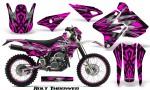 Suzuki DRZ400 Enduro CreatorX Graphics Kit Bolt Thrower Pink WB NP Rims 150x90 - Suzuki Dirt Bike Graphics