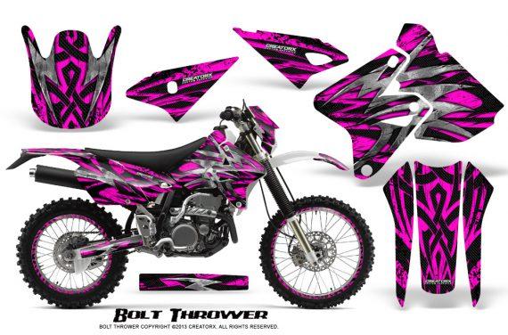 Suzuki DRZ400 Enduro CreatorX Graphics Kit Bolt Thrower Pink WB NP Rims 570x376 - Suzuki Dirt Bike Graphics