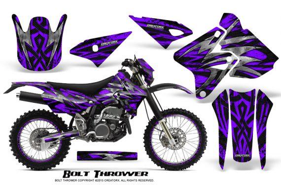 Suzuki DRZ400 Enduro CreatorX Graphics Kit Bolt Thrower Purple NP Rims 570x376 - Suzuki Dirt Bike Graphics