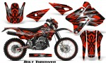 Suzuki DRZ400 Enduro CreatorX Graphics Kit Bolt Thrower Red NP Rims 150x90 - Suzuki Dirt Bike Graphics