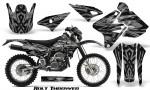 Suzuki DRZ400 Enduro CreatorX Graphics Kit Bolt Thrower Silver NP Rims 150x90 - Suzuki Dirt Bike Graphics