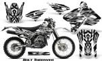 Suzuki DRZ400 Enduro CreatorX Graphics Kit Bolt Thrower White NP Rims 150x90 - Suzuki Dirt Bike Graphics