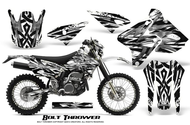 Suzuki-DRZ400-Enduro-CreatorX-Graphics-Kit-Bolt-Thrower-White-NP-Rims