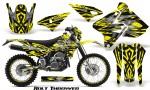 Suzuki DRZ400 Enduro CreatorX Graphics Kit Bolt Thrower Yellow NP Rims 150x90 - Suzuki Dirt Bike Graphics