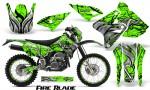Suzuki DRZ400 Enduro CreatorX Graphics Kit FireBlade Black Green NP Rims 150x90 - Suzuki Dirt Bike Graphics