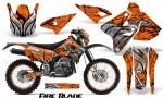 Suzuki DRZ400 Enduro CreatorX Graphics Kit FireBlade Black Orange NP Rims 150x90 - Suzuki Dirt Bike Graphics