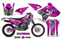 Suzuki-DRZ400-Enduro-CreatorX-Graphics-Kit-FireBlade-Black-Pink-NP-Rims