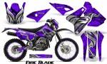 Suzuki DRZ400 Enduro CreatorX Graphics Kit FireBlade Black Purple NP Rims 150x90 - Suzuki Dirt Bike Graphics