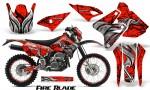Suzuki DRZ400 Enduro CreatorX Graphics Kit FireBlade Black Red NP Rims 150x90 - Suzuki Dirt Bike Graphics