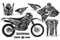 Suzuki-DRZ400-Enduro-CreatorX-Graphics-Kit-FireBlade-Black-Silver-NP-Rims