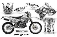 Suzuki-DRZ400-Enduro-CreatorX-Graphics-Kit-FireBlade-Black-White-NP-Rims