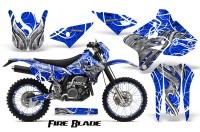 Suzuki-DRZ400-Enduro-CreatorX-Graphics-Kit-FireBlade-White-Blue-NP-Rims