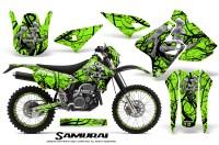 Suzuki-DRZ400-Enduro-CreatorX-Graphics-Kit-Samurai-Black-Green-NP-Rims