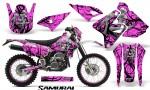 Suzuki DRZ400 Enduro CreatorX Graphics Kit Samurai Black Pink NP Rims 150x90 - Suzuki Dirt Bike Graphics